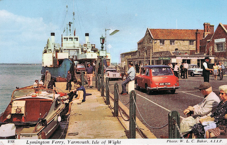 MV Lymington at Yarmouth