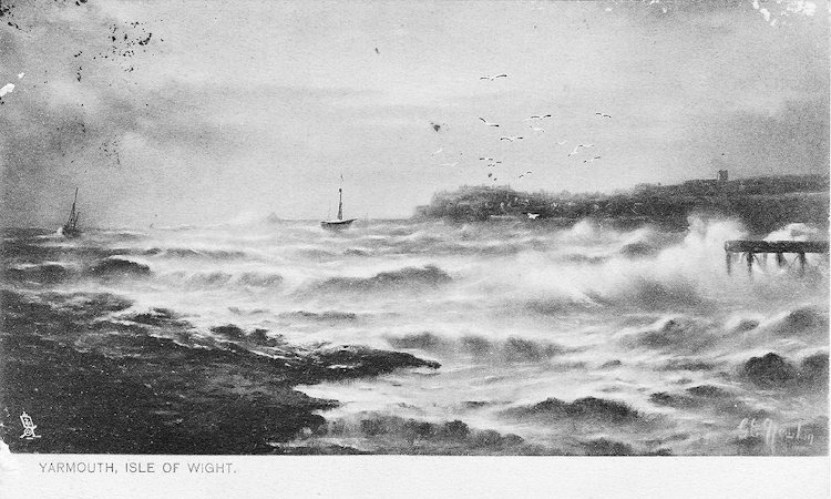 Rough sea off Yarmouth